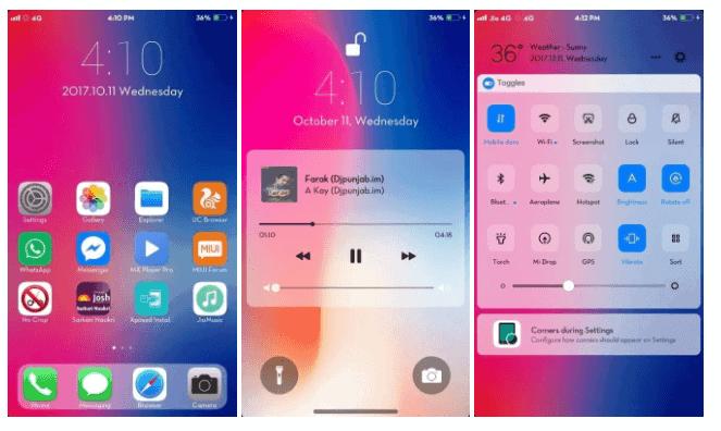 Tema iPhone X iOS 11