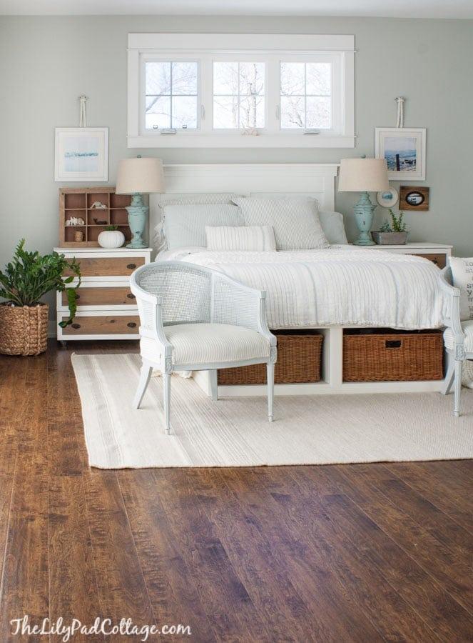 Coastal Master Bedroom Decor