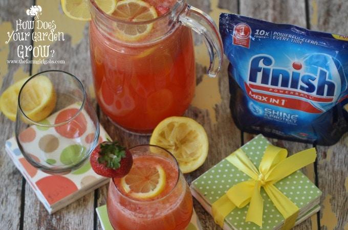 Strawberry Lemonade & DIY Drink Coasters