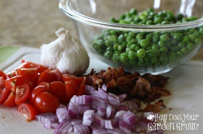 Peas with Bacon Salad Ingredients