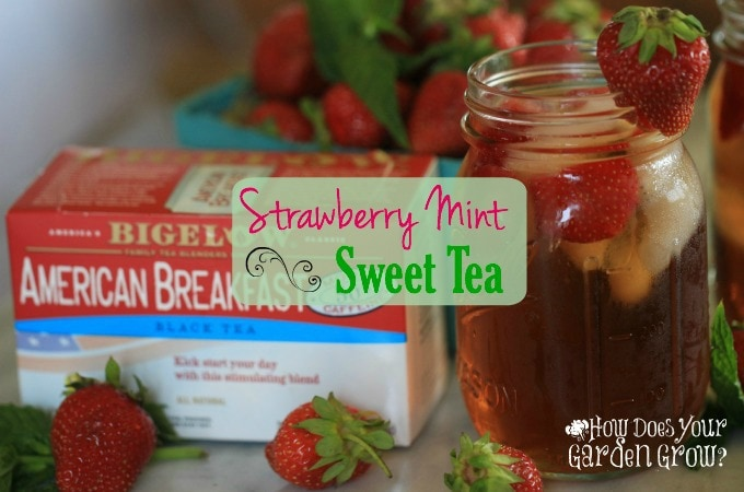Strawberry Mint Sweet Tea