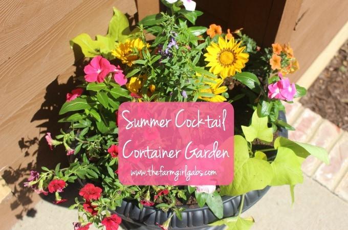 Summer Cocktail Container Garden
