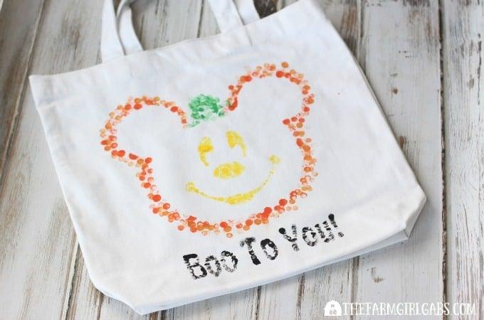 Eraser-Stamped Disney Halloween Treat Bag
