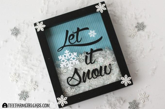 Let It Snow Shadow Box