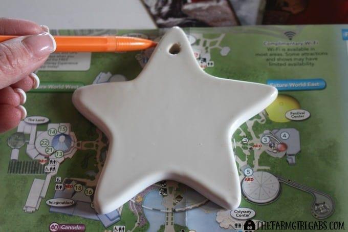 Disney Guidemap Ornaments - Step 1
