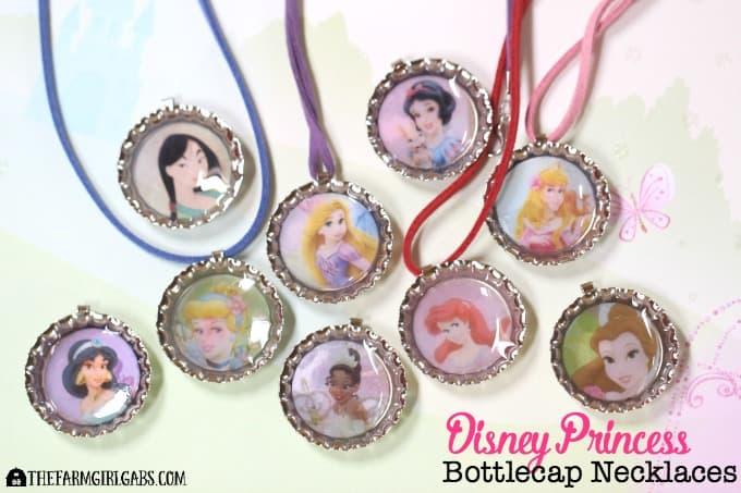 Disney Princess Bottle Cap Necklaces