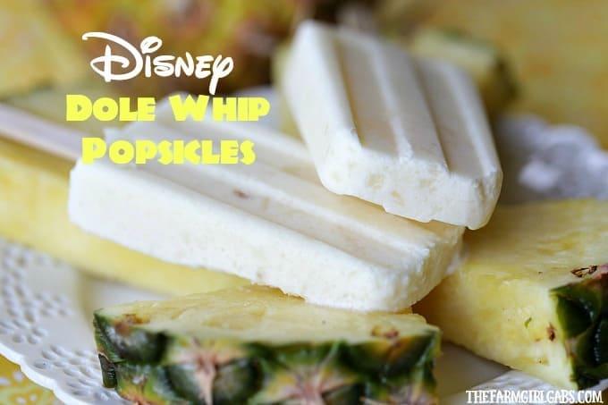 Disney Dole Whip Popsicles