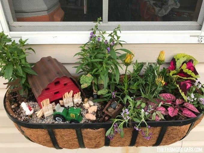 Miniature Farm Window Box Planter