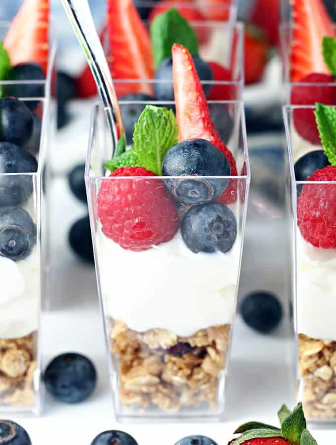 Mini Fruit and Yogurt Parfaits