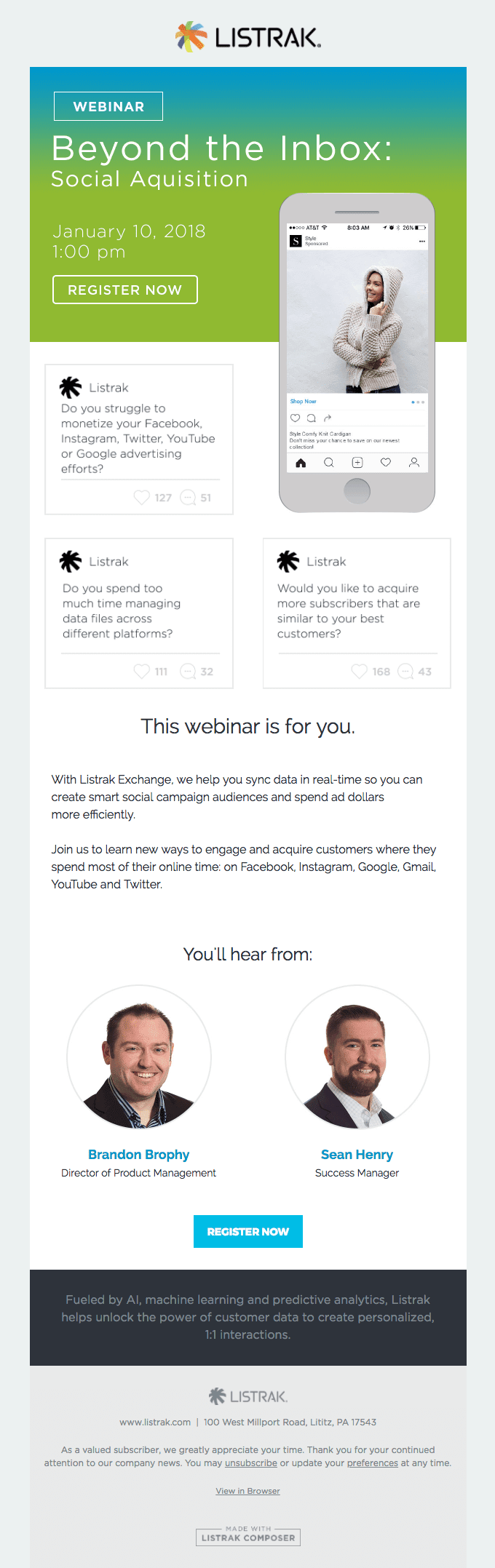 listrak webinar invite