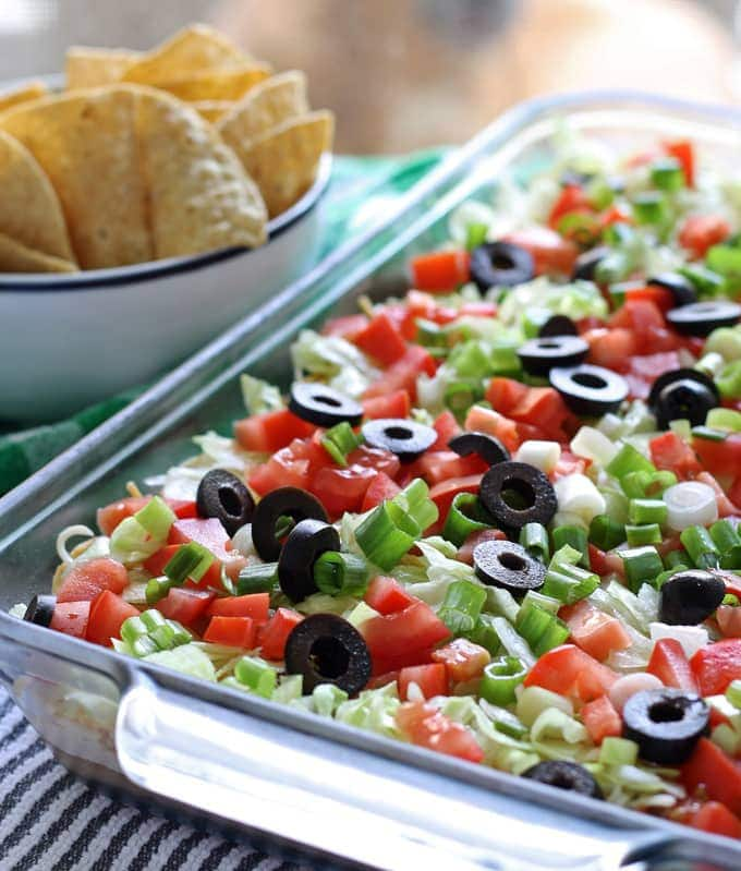 Layered Taco Dip Recipe Perfect For Large Groups With Video