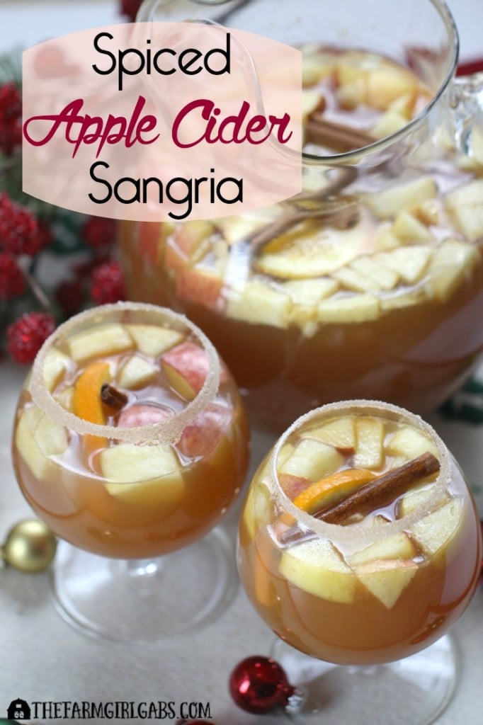 Spiced Apple Cider Sangria is a perfect drink for fall or holiday entertaining. This easy recipe is a perfect way to celebrate the season. [ad] #CelebrateThis, #IC