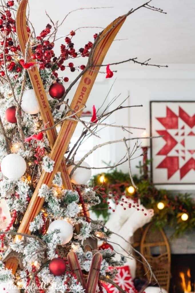 Vintage Ski Christmas Tree
