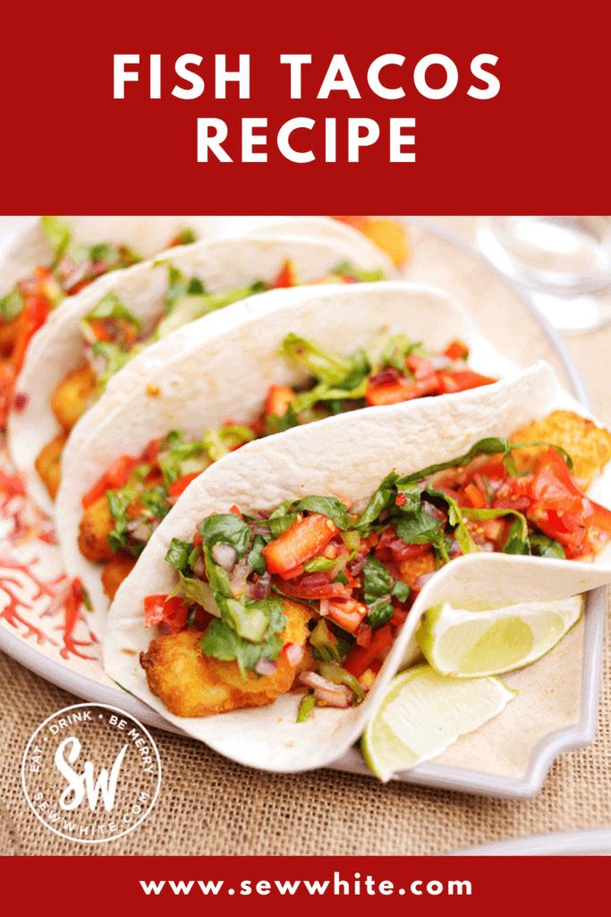 fish tacos recipe pin