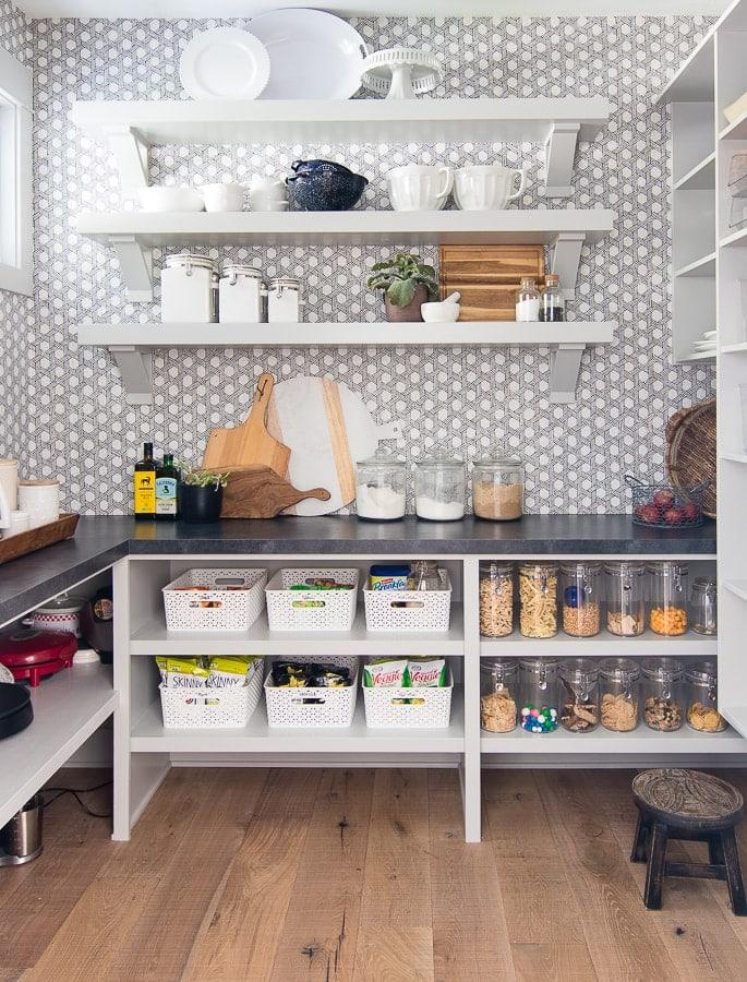 butlers pantry organizing