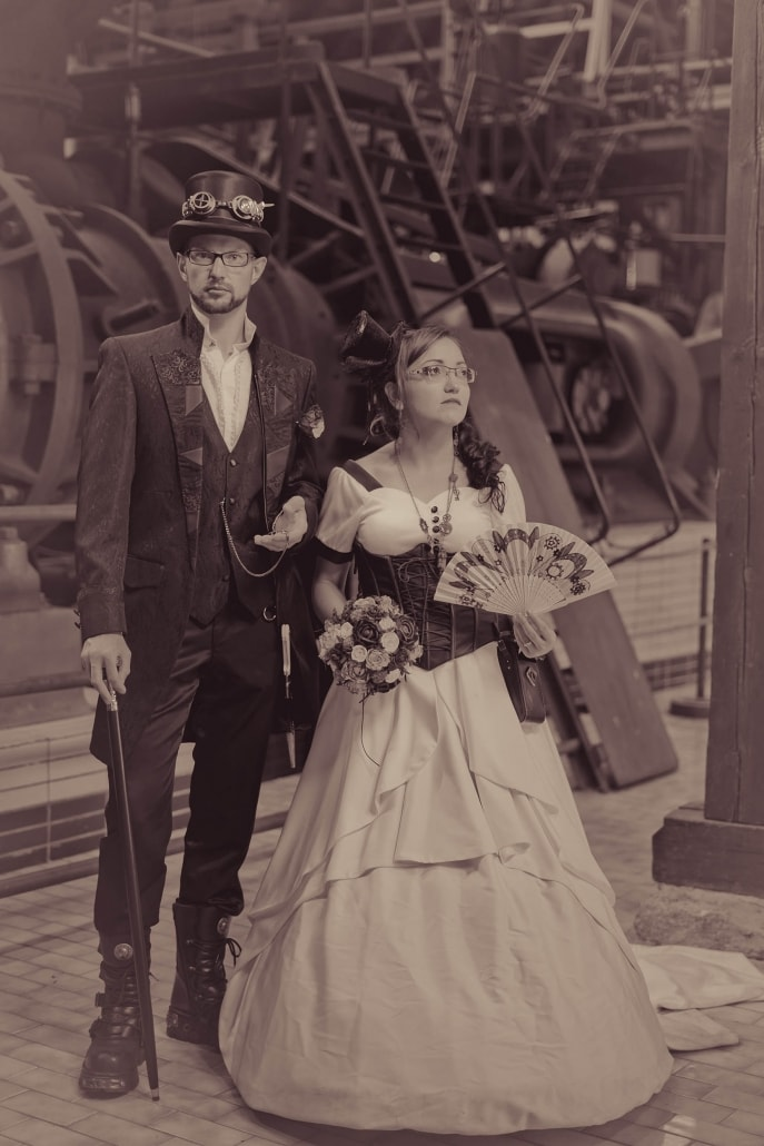 Steampunk After Wedding Shooting in Ohrdruf um 1915 ;-)