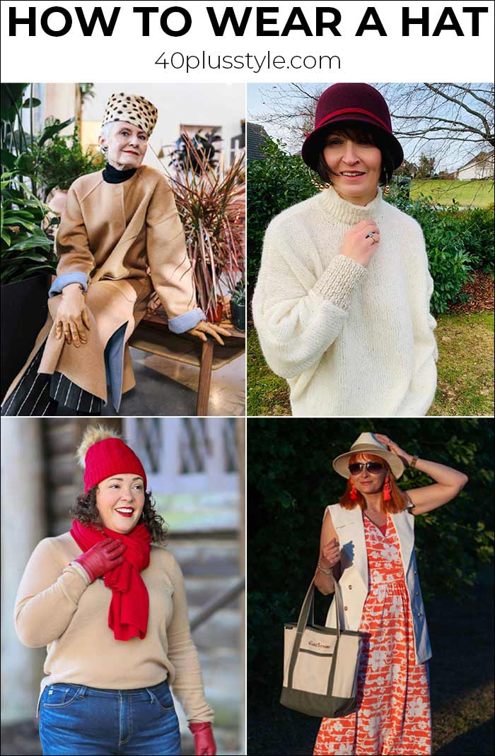 How to wear a hat: The ultimate guide to types of hats and how to wear them | 40plusstyle.com