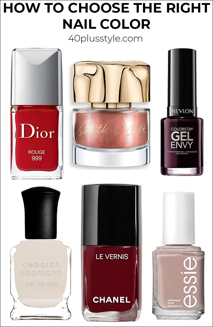 """How to choose the right nail color and avoid """"Old Lady"""" hands   40plusstyle.com"""