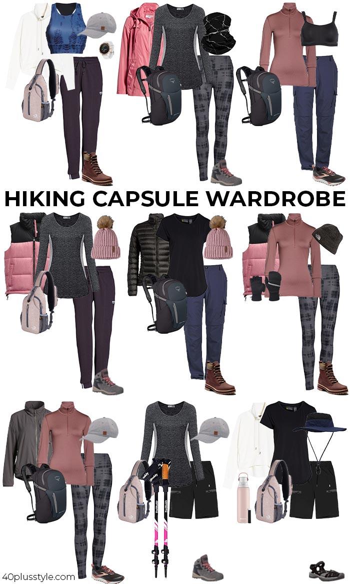 Hiking capsule wardrobe | 40plusstyle.com