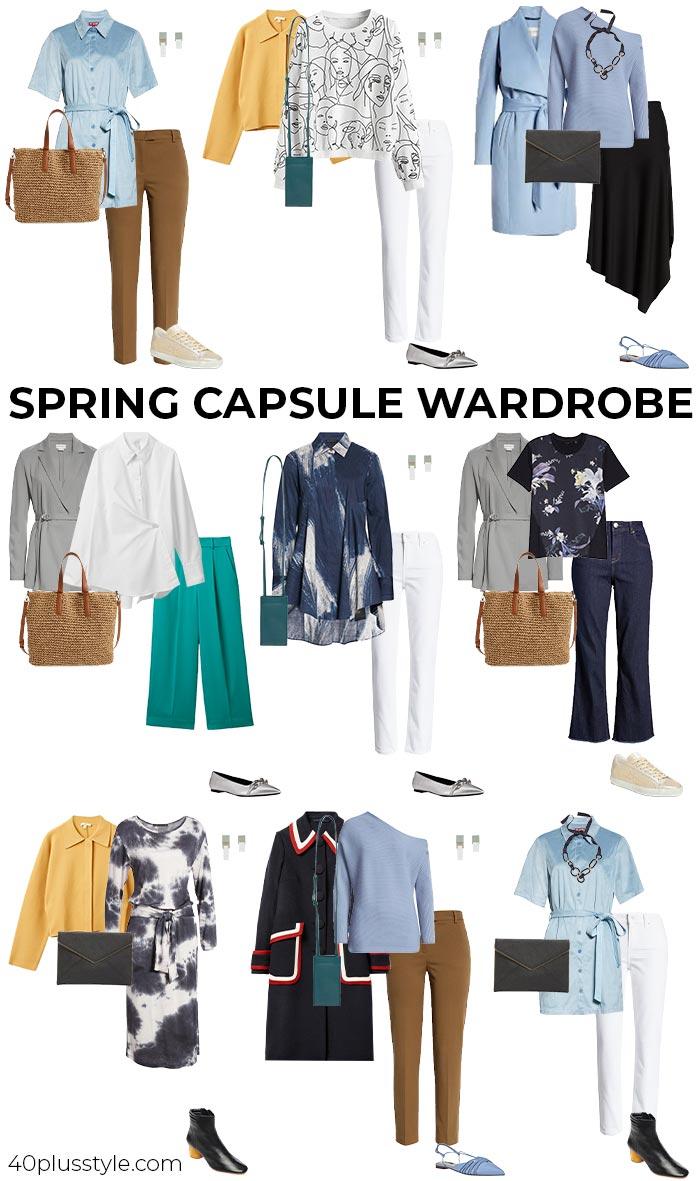 Spring 2021 capsule wardrobe   40plusstyle.com