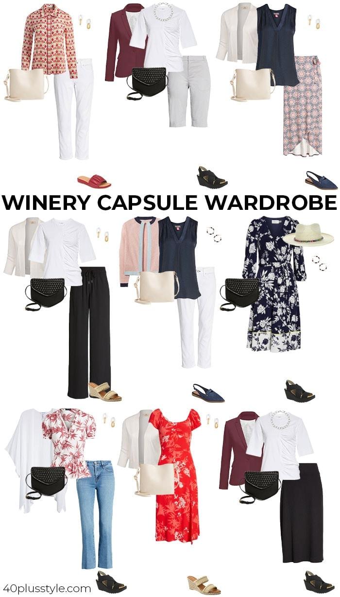 Winery capsule wardrobe | 40plusstyle.com