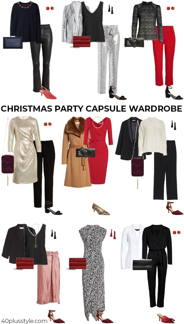 A Chirstmas capsule wardrobe   40plusstyle.com