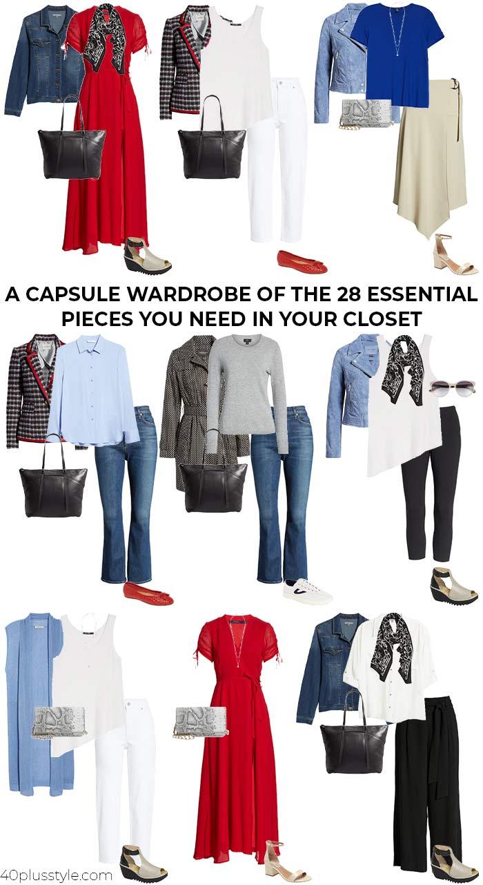 28 essential-piece capsule wardrobe   40plusstyle.com