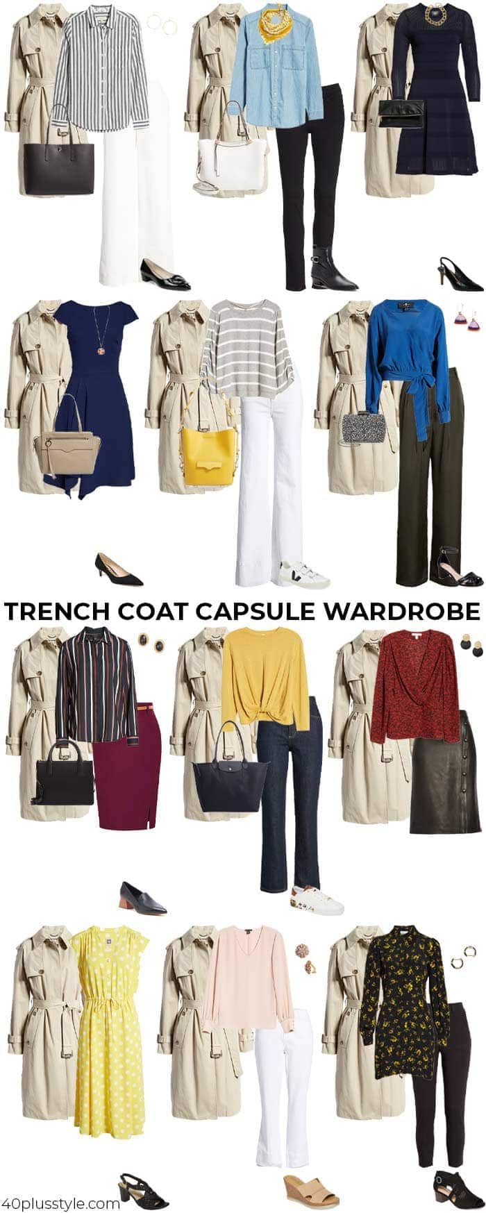 A trench coat capsule wardrobe   40plusstyle.com
