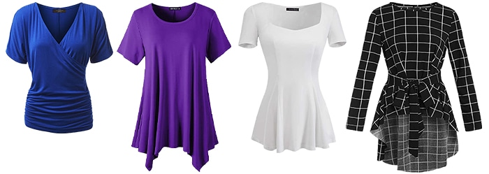 Tops for the apple shape body | 40plusstyle.com