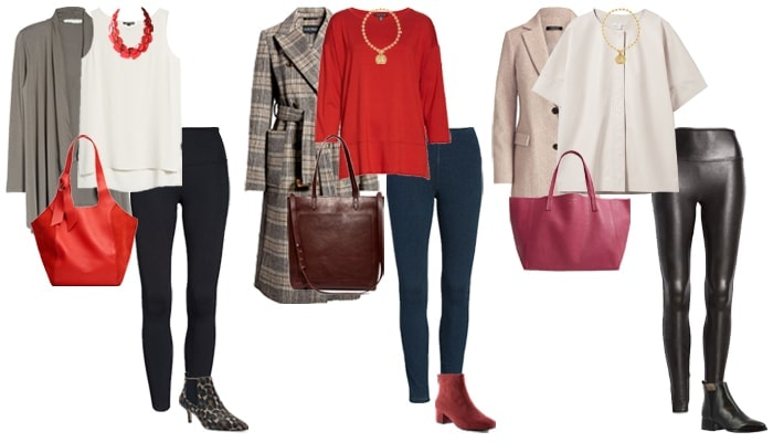 How to wear booties with leggings | 40plusstyle.com