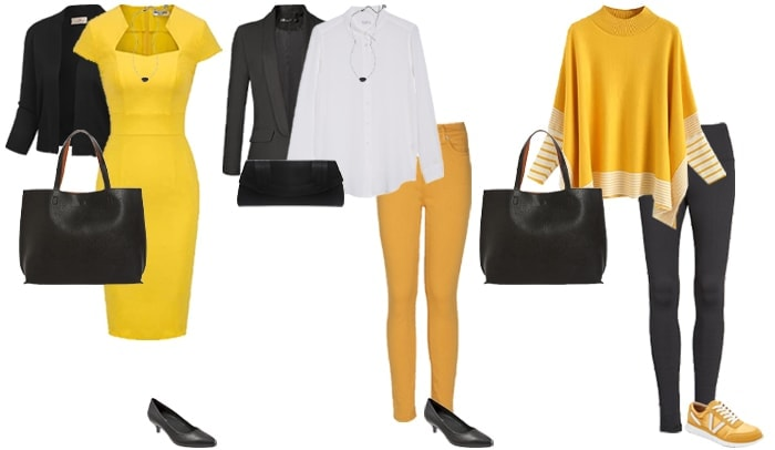 Black and yellow outfits | 40plusstyle.com