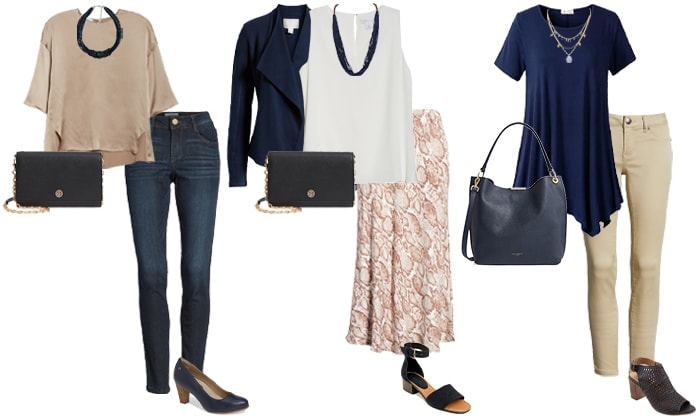 navy and neutral outfit ideas | 40plusstyle.com