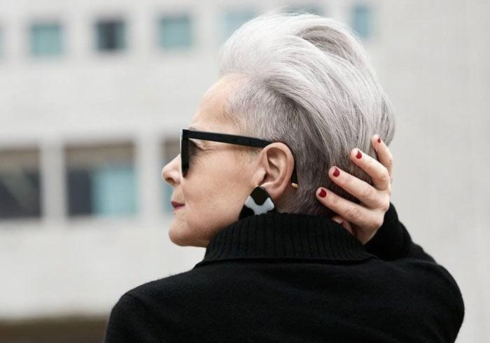 Accidental Icon Portfolio Wearing Black Turtleneck Top | 40plusstyle.com