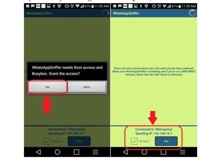 Sadap WA menggunakan Whatsapp Sniffer
