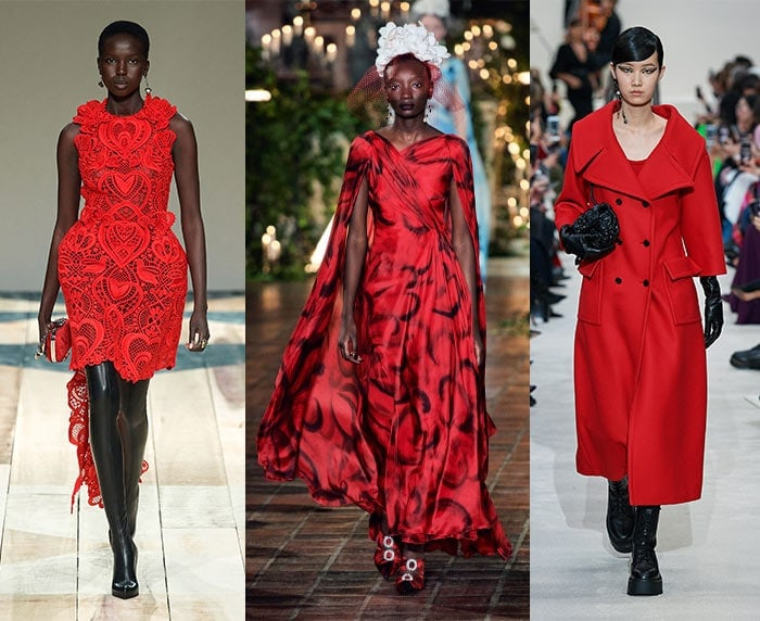 Red runway outfits | 40plusstyle.com