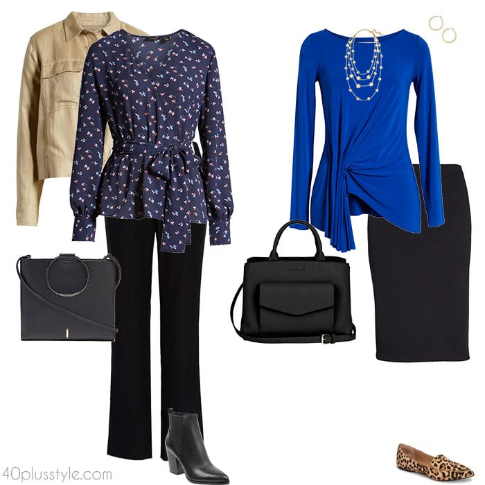 Outfit ideas for the apple body shape   40plusstyle.com