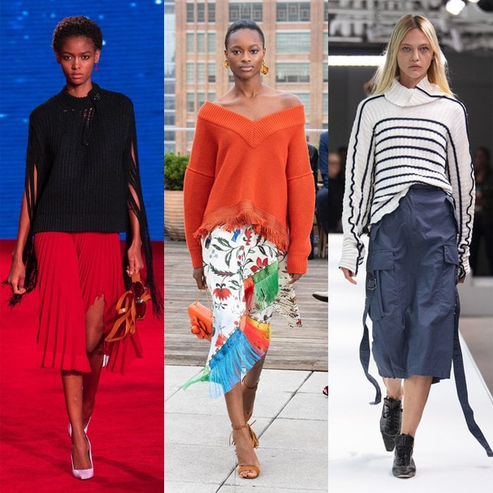 Trends for spring and summer 2019: Wearing sweaters with skirts   40plusstyle.com