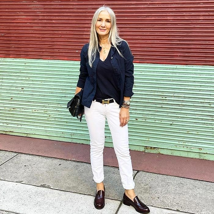 Wearing loafers with jeans   40plusstyle.com