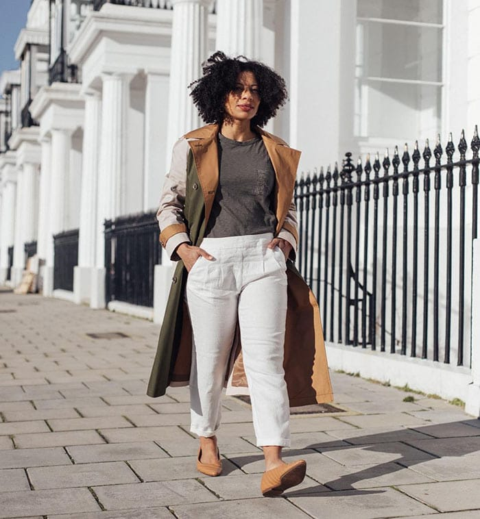 Outfits for spring - Eleanor wears a statement coat   40plusstyle.com
