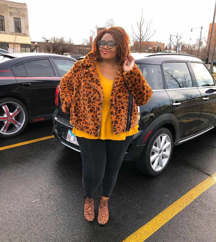 best winter coats for women - Jaye wears and faux fur coat | 40plusstyle.com