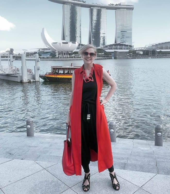 Wearing a long dress as a vest | 40plusstyle.com