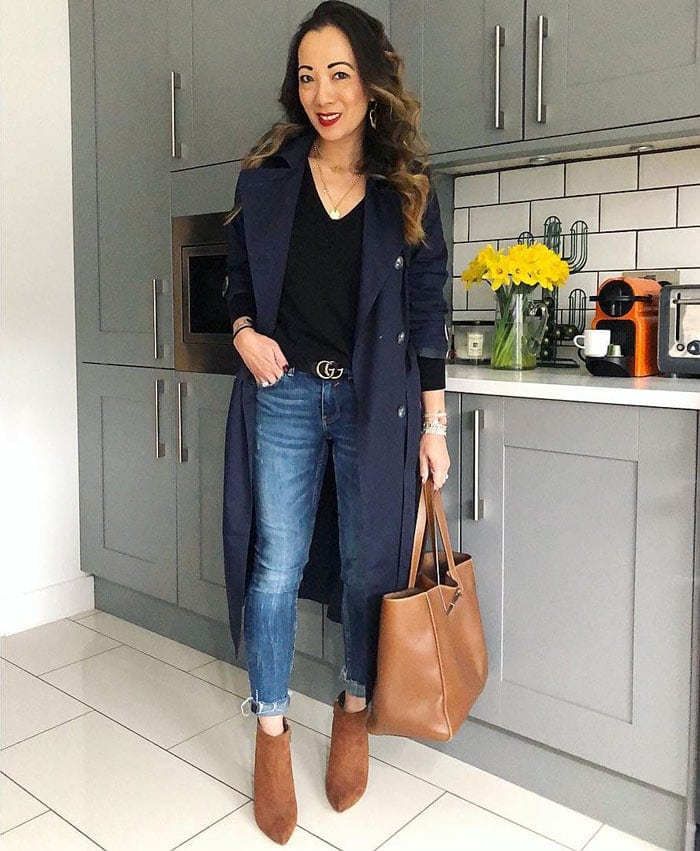 A casual look with a trench coat   40plusstyle.com