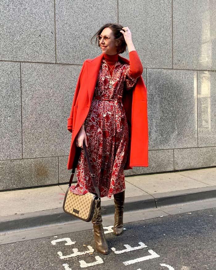 women red coat | 40plusstyle.com