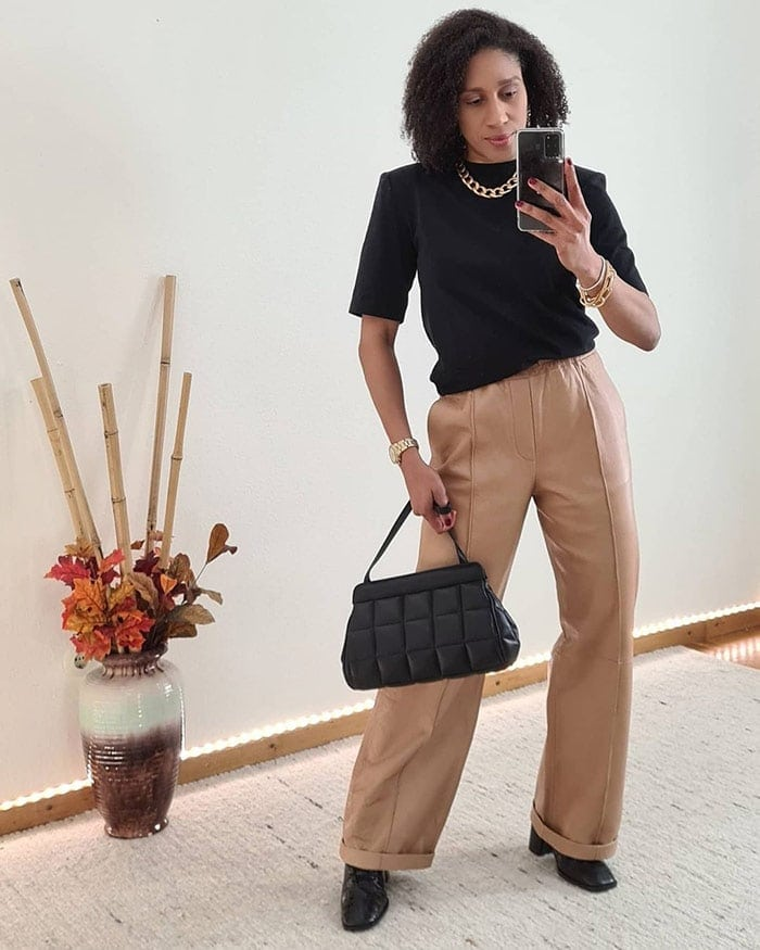 Outfits for spring - Jacque wears a number of this spring's trends together   40plusstyle.com