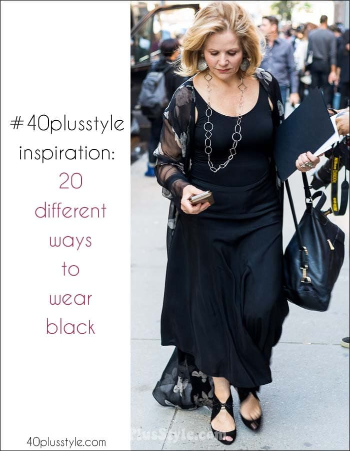 #40plusstyle inspiration: 20 different ways to wear black | 40plusstyle.com