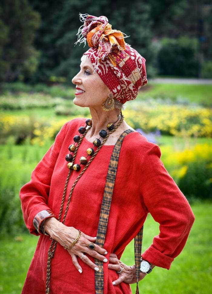 Outfits suited with head wraps | 40plusstyle.com