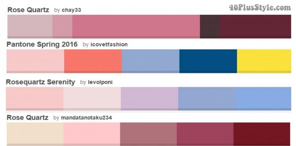 Pink Rose Quartz Combinations Color | 40plusstyle.com