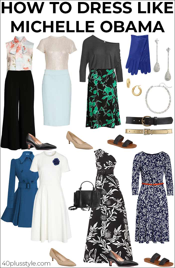 How to dress like Michelle Obama   40plusstyle.com
