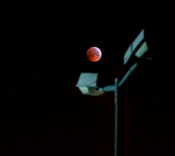 der Blutmond vom 21.01.2019 in Erfurt fotografiert mit der Sony A7r3