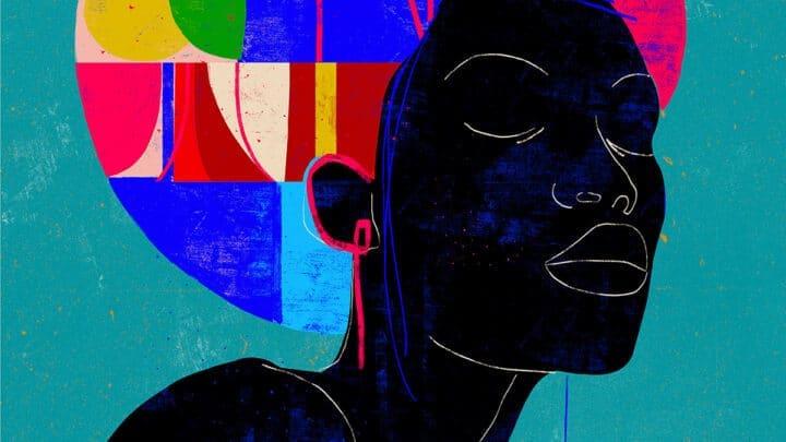 Retratos Minimalistas e Coloridos de Luciano Cian Artes & contextos minimal lines and colorful geometric shapes compose luciano cians portraits